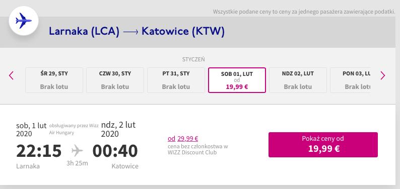 Tanie loty do Libanu -  Larnaka - Katowice 1 lutego 19,99 EUR