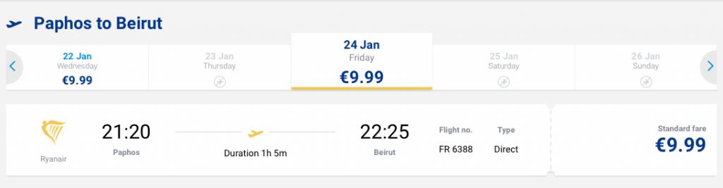 Tanie loty do Libanu - Bejrut 24 stycznia 9,99 EUR