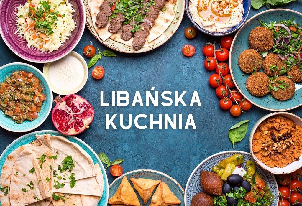 Kolaż z daniami kuchni libańskiej